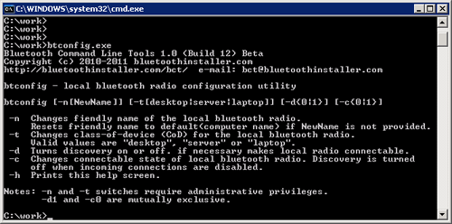 Bluetooth Command Line Tools 1.2.0.56 full