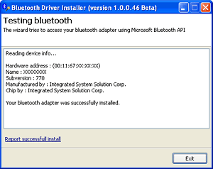 Checking installed hardware through Microsoft Bluetooth API